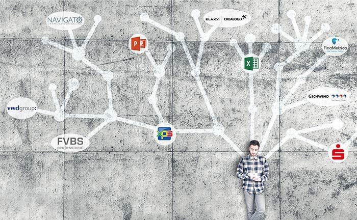 Nutzer mit Tablet: Statt verschiedener Einzellösungen verheißt die Digitalisierung ein vernetztes Angebot aus einem Guss, das Vermögensverwaltern mehr Zeit für die Kundenbetreuung lässt.|© ALLVISIONN/ISTOCK