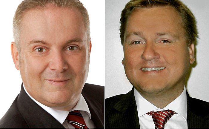 Torsten Rickmann (l.) und Marcus Wilmerstadt: Die beiden Neuzugänge kennen sich bereits unter anderem seit ihrer Zeit bei der Süddeutschen Aktienbank. |© Bankhaus Lenz
