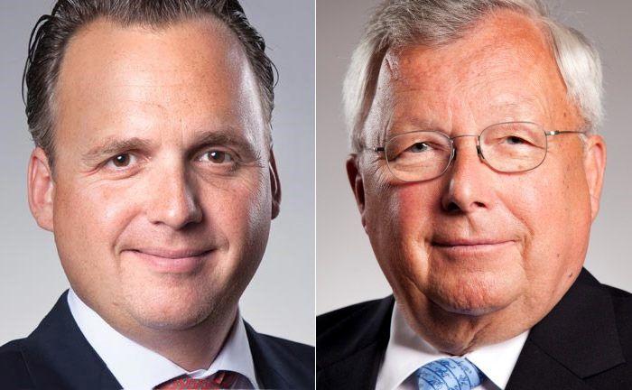 Joachim Olearius (l.), Sprecher der Partner der Warburg Bank und sein Vater Christian Olearius, Aufsichtsratschef der Bank. |© M.M.Warburg & CO.