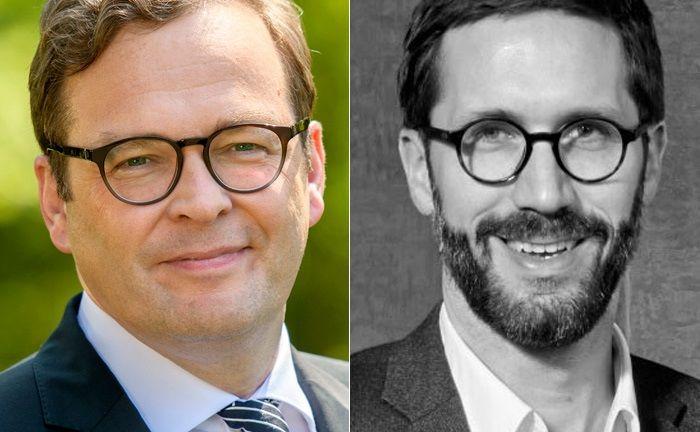 Marcus Vitt (l.) ist Vorstandssprecher der Hamburger Privatbank Donner & Reuschel. Chris Bartz ist Mitgründer des Berliner Spezialdienstleisters Elinvar.|© Donner & Reuschel, Elinvar
