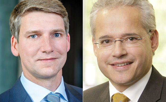 Andreas Grünewald und Martin Wiegelmann bilden die Vorstandsspitze des Verbands unabhängiger Vermögensverwalter.|© VuV, SMS & Cie.
