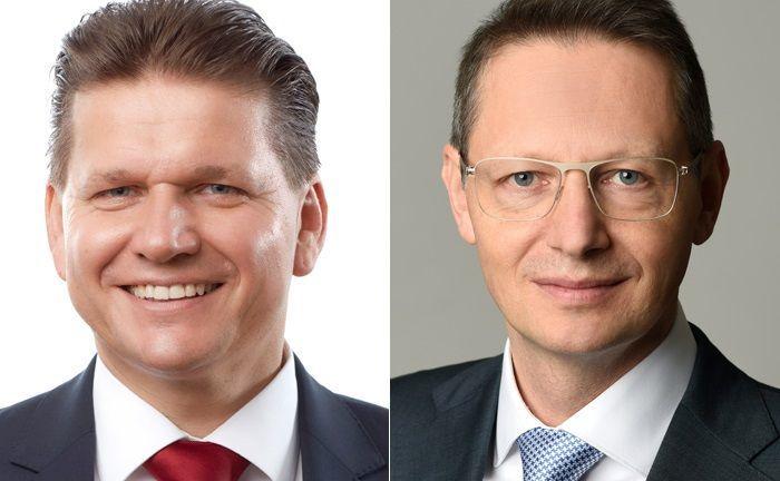 Helmut Siegler (l.) zieht in den Vorstand der Schoellerbank ein. Robert Karas wird Investmentchef bei der Wiener Privatbank.