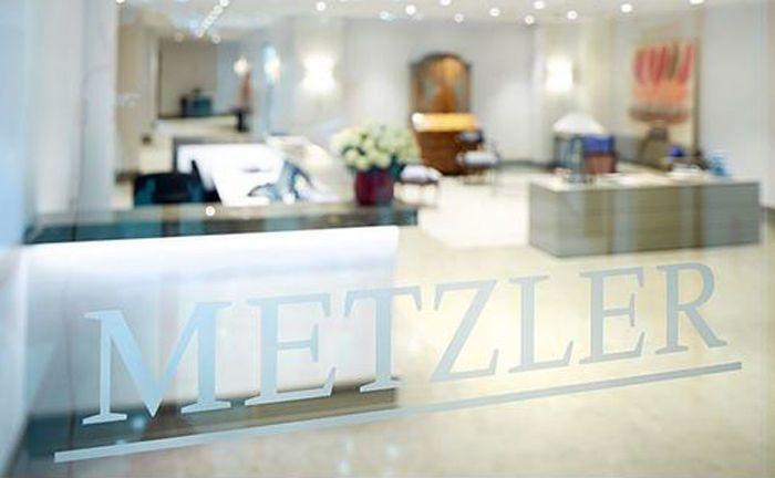 Logo des Bankhauses Metzler: Für ihr Private Banking sucht das Instut einen Spezialisten, der das Portfoliomanagement unterstützt.