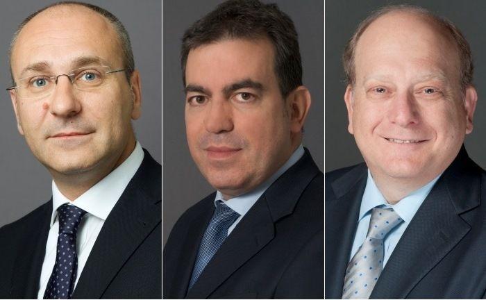 Aktienexperten von Amundi (v.l.): Diego Franzin , Mauro Ratto und Kenneth J. Taubes
