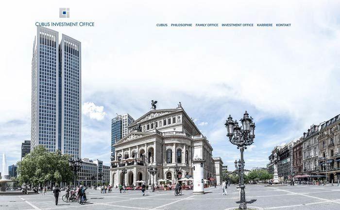 Screenshot der Website der jüngst gegründeten Cubus Investment Office: Alexander Pick und Tan Bütün haben das Unternehmen gemeinsam gegründet.|© Cubus Investment Office