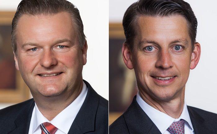 Olaf Lüdemann (l.) leitet die Abteilung Infrastructure & Energy bei der Berenberg Bank. Franz von Abendroth ist zuständiger Fondsmanager des neuen Spezial-AIFs.