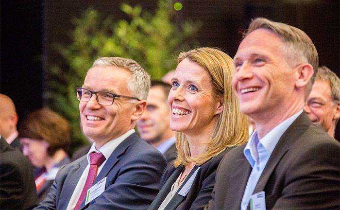 Sichtbar gute Laune bei den Teilnehmern des private banking kongress in München.|© Christian Scholtysik / Patrick Hipp