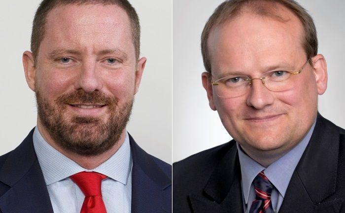 Henning Stein (l.) und Michael Fraikin von Invesco.