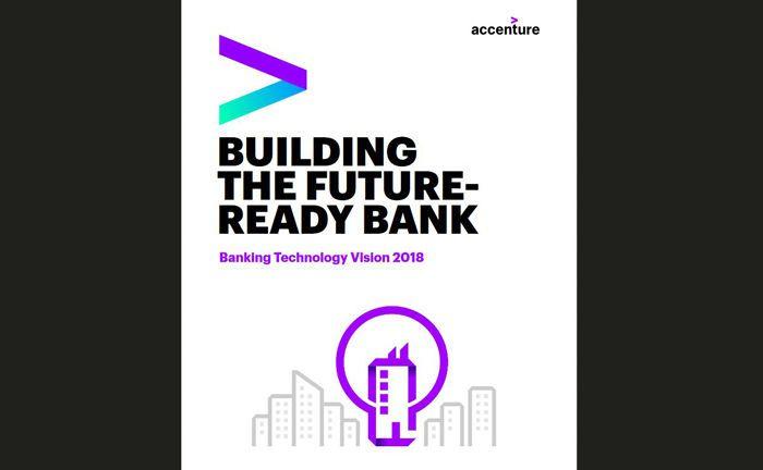 Deckblatt der Accenture-Studie Banking Technology Vision 2018, die jedes Jahr die wichtigsten Technologietrends mit Disruptionspotenzial für die Bankenbranche ermittelt.|© Accenture