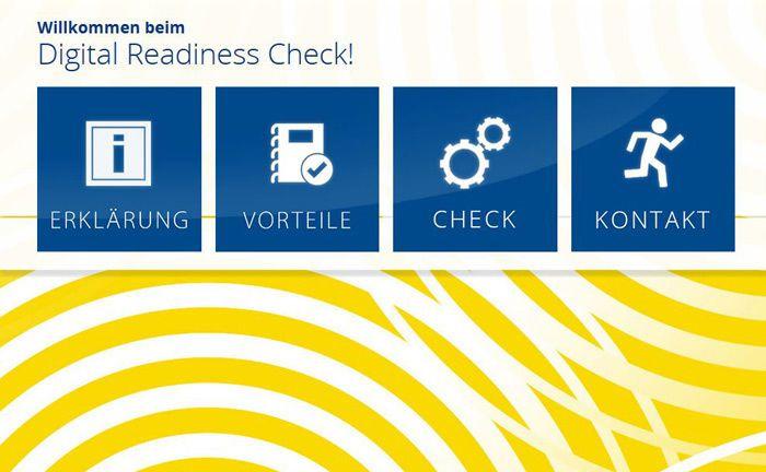 Startseite des Digital-Readiness-Checks für Stiftungen.