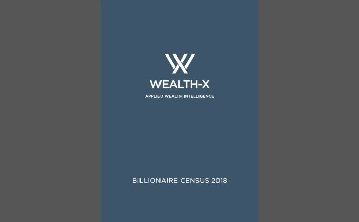 Der Wealth-X Billionaire Census 2018:  | © Wealth-X