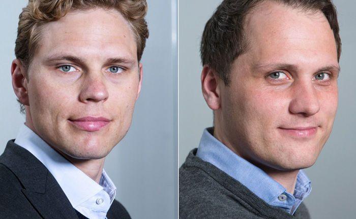 Erik  Podzuweit (l.) und Florian Prucker sind zwei der vier Gründer von Scalable Capital und zugleich Geschäftsführer beim Münchner Robo-Advisor.