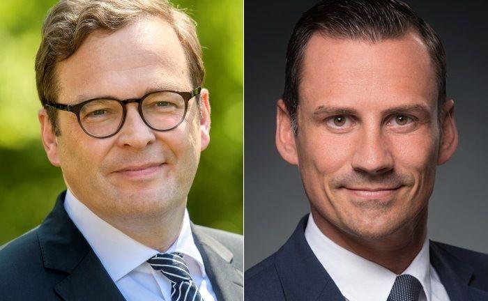 Vorstand Marcus Vitt (l.) und Thomas Nerlinger, Abteilungsleiter Private Banking in München. |© Donner & Reuschel