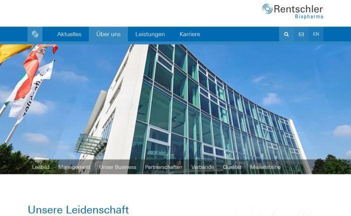 Webseite von Rentschler Biopharma: Die Muttergesellschaft Dr. Rentschler Holding erfüllt auch die Funktion eines Family Office.|© Rentschler Biopharma