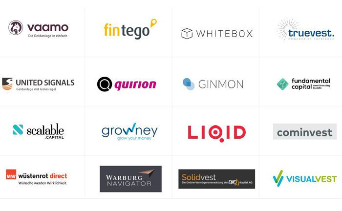 Die 16 Teilnehmer des Robo-Advisor-Kundenchecks auf einen Blick.|© robo-advisor.de