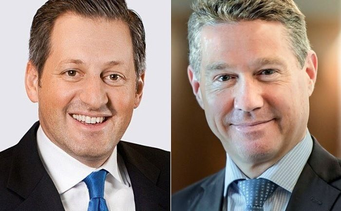 Boris Collardi (l.) und der scheidende Chef Wealth Management Christian Gellerstadt | © Pictet