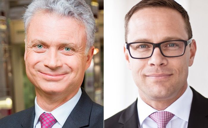 Vincent Lecomte (l.) ist Co-Leiter Wealth Management von BNP Paribas in Paris. Marcel Becker leitet das Wealth Management der Großbank in Deutschland.