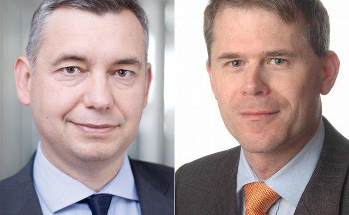 Marcel van Leeuwen (l.), Vorsitzender der Geschäftsführung, und Martin Zeitler, Mitglied der Geschäftsführung, verantworten bei der Deutschen Wertpapiertreuhand die neuen Start-up-Initiativen.|© Deutsche Wertpapiertreuhand