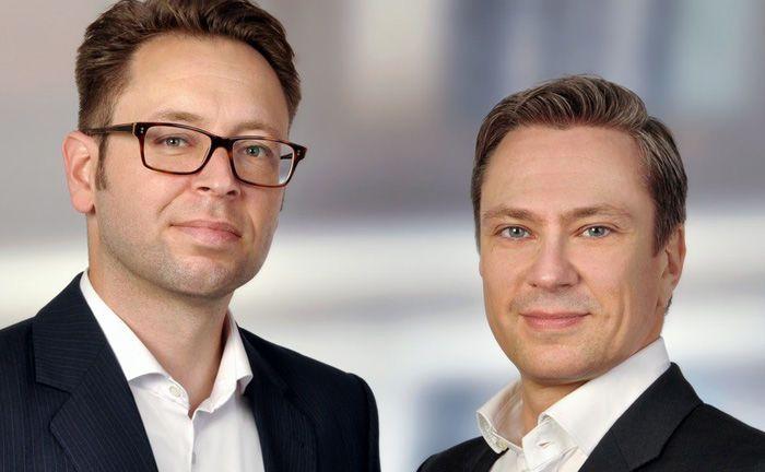Stefan Baumbach (l.) ist Geschäftsführer und Gesellschafter von Resolute Investments. Marco Willner ist Geschäftsführer und Mitbegründer des Frankfurter Fondsberaters.|© Resolute Investments
