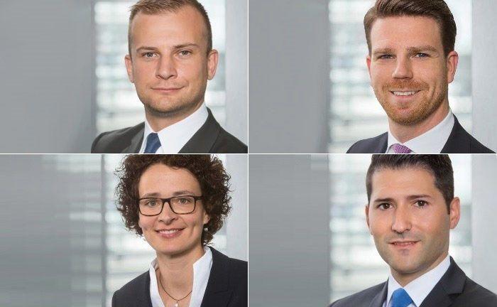 Marko Sunjic (links oben), Dennis Janu (rechts oben), Olivia Götz und Sergio Pereira Jorge. |© BW-Bank