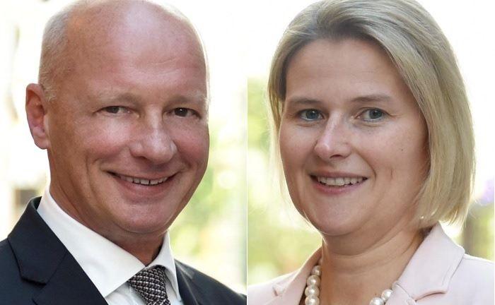 Manfred Stevermann, Vorstandsvorsitzender der Sparda-Bank West, und Silke Schneider-Wild, Vorstandsvorsitzende der Sparda-Bank Münster,|© Sparda-Bank West