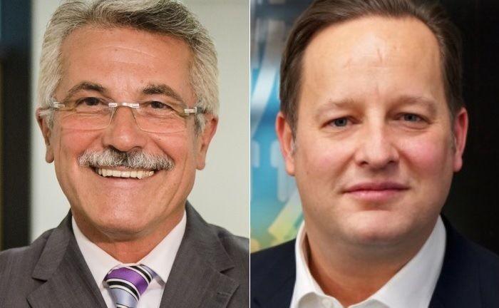 Die beiden Geschäftsführer Rudolf Geyer (l.) und Lars Müller-Lambrecht sollen das Unternehmen auch künftig leiten.