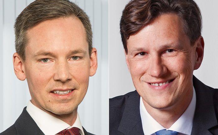Pascal Spano (l.) ist Research-Chef beim Bankhaus Metzler. Werner Litzinger leitet die Abteilung Aktienhandel und -verkäufe der Frankfurter Privatbank.|© Bankhaus Metzler
