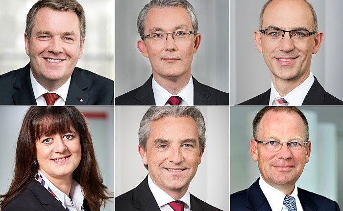 Noch zu sechst: Rüdiger Linnebank (links oben), Ulrich Voigt (Mitte oben), Volker Schramm (rechts oben), Nicole Handschuher (links unten), Rainer Virnich (unten Mitte) und Christoph Siemons.