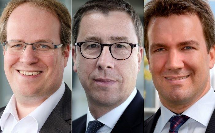Benedikt Engbroks (r.), Benedikt Köster (M.) und Manfred Bubenheim. |© DP Pensionsfonds