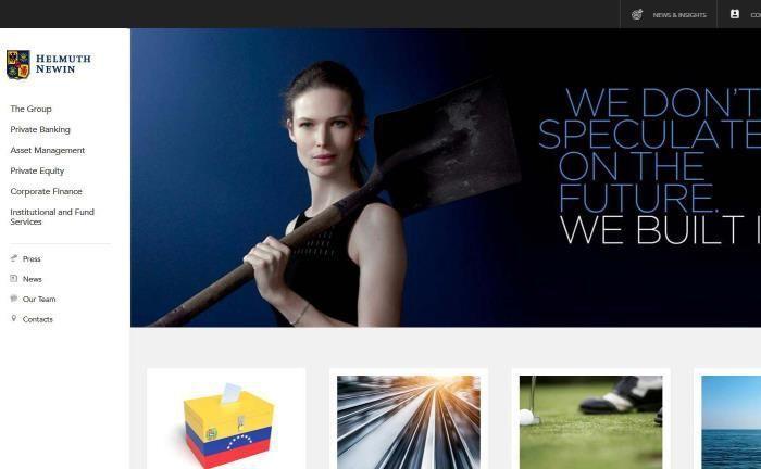 Das Website-Imitat der vermeintlichen Helmuth Newin Group ist noch immer online.