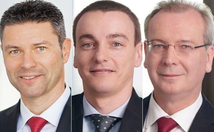 Sollen das Gelingen der veränderten Immobilien-Strategie von Wealthcap sicherstellen (v.l.): Michael Stüber, Gilbert Horst und Joachim Mur.