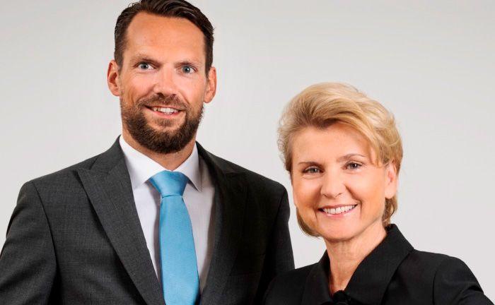 Senior Manager Alexander Sablatnig (l.) und Afom-Gründerin Eva Marchart.