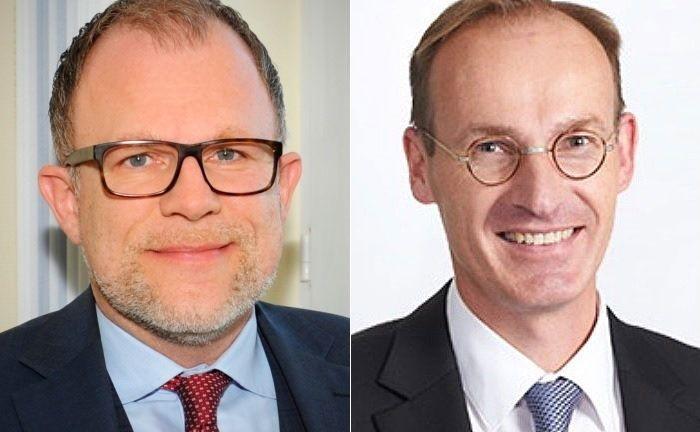 Frank Oliver Paschen (l.) und Stephan Meyer lenken künftig die Geschicke der Pensionskasse der Hamburger Hochbahn.