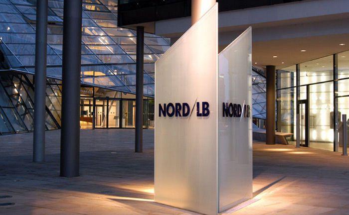 Eimgangsbereich der Nord/LB in Hannover: Die Landesbank steht bei internationalen Finanzinvestorenaktuell hoch im Kurs.|© Nord/LB