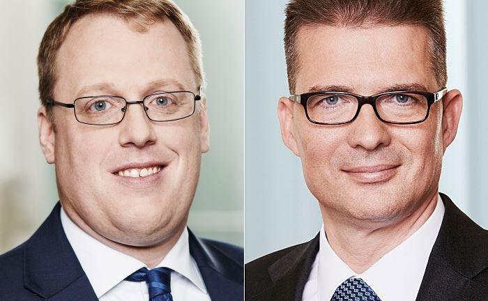 Der Leiter der Vermögensverwaltung für Sparkassen, Christian Vomberg (l.), und Investmentchef Dr. Thilo Goodall-Rathert.