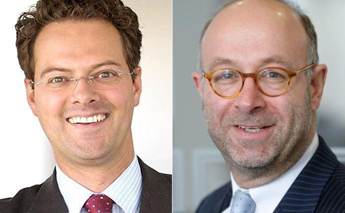 Geschäftsleiter Christian Maria Kreuser (l.) und Florian Weber, Geschäftsführender Direktor und Hauptaktionär der Bank.