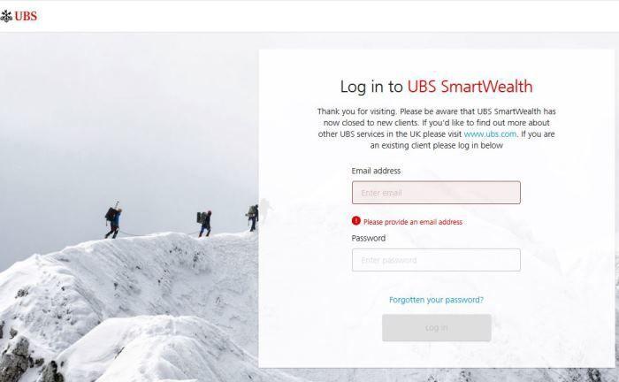 UBS Smartwealth: Für Neukunden ist das Portal bereits geschlossen. |© UBS