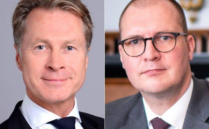 Magnus Blohme (l.) und Stephan Grathenauer.|© UBS/Credit Suisse