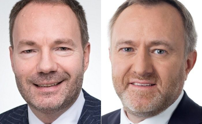 Torben Dunkel (l.), bei Aviva Investors Leiter Institutionelle Kunden, und Portfoliomanager Florent Del Picchia.