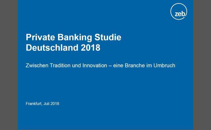 zeb-Studie 2018: Margen im Private Banking sinken auf kritisches Niveau