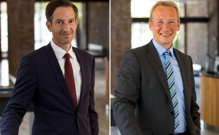 Für Danske Invest auf dem private banking kongress: Marc Homsy, Leiter Anlagenvertrieb Deutschland, und Andreas Schneeberger, Leiter Geschäftsentwicklung.|© Danske Invest