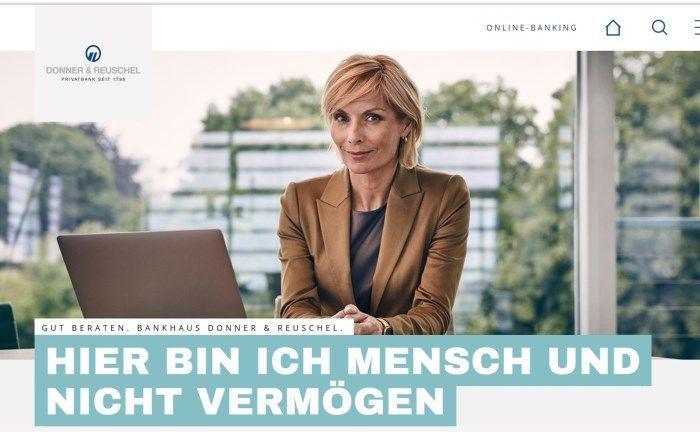 Donner & Reuschel: Die Privatbank hat ihre Webseite neu gestaltet. |© Donner & Reuschel