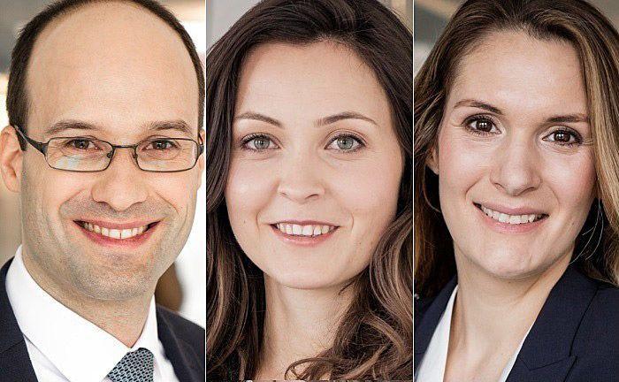 Ulrich Loetz (l.), Anna Gaßner und Dr. Marina Schäuble von der Kanzlei Arnecke Sibeth Dabelstein.