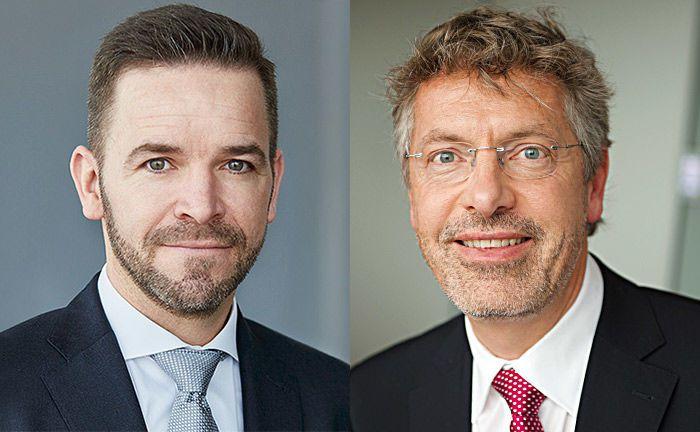 Thomas Lehr (l.) und Philipp Vorndran: Bei der Diskussion um die Entwicklung von US-Indizes und ihren europäischen Pendants werden – leider – Äpfel mit Birnen verglichen.|© Flossbach von Storch
