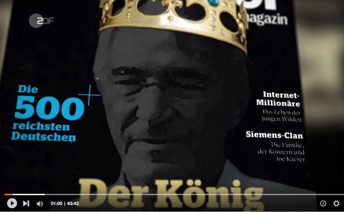 """Dieter Schwarz auf dem Titelblatt des """"Manager Magazin"""": Deutschlands vermögendster Milliardär gilt als Phantom."""