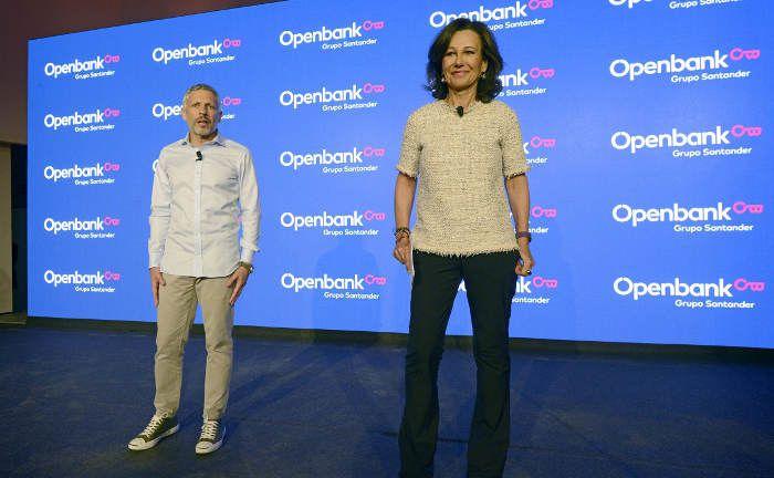 Ana Botín, Aufsichtsrats-Chefin der Santander Bank, und Ezequiel Szafir, Geschäftsführer der Openbank: Ab sofort nutzt die Openbank die Dienste von Scalable Capital