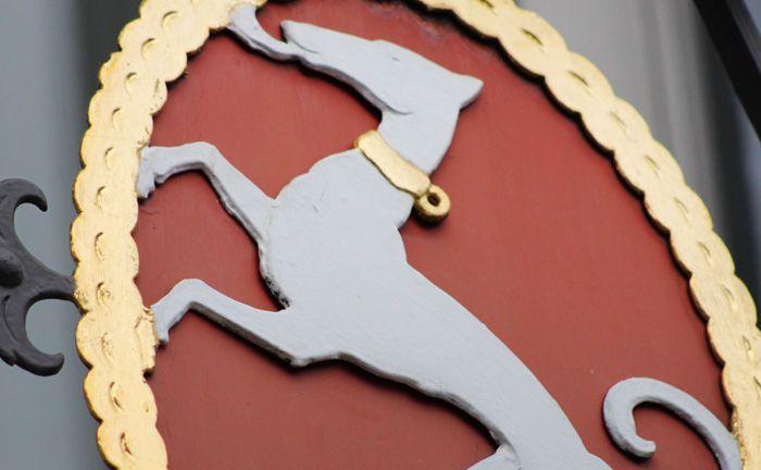 Verschwindet endgültig vom Markt: Der Windhund im Wappen der Schweizer Privatbank Notenstein La Roche.