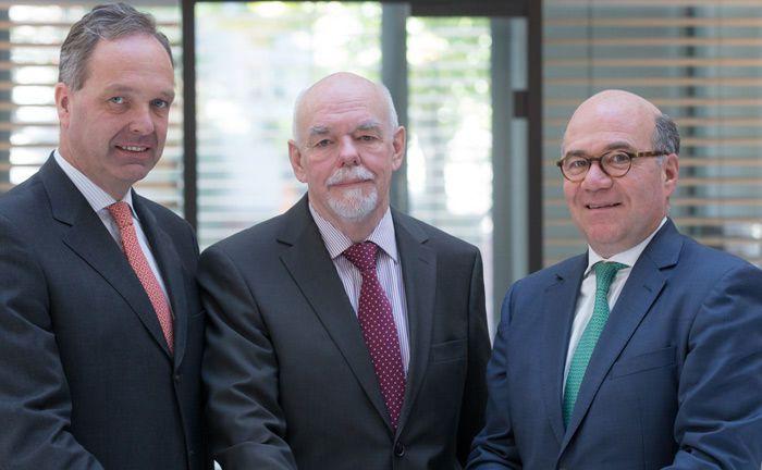 Die bisherige und noch aktuelle Geschäftsführung der GAP Vermögensverwaltung (v.l.): Michael von Brauchitsch, Klaus Burkhart und Hans-Otto Trümper. Erstgenannter wird zum 30. April 2019 sein Amt niederlegen und auch als Gesellschafter ausscheiden.