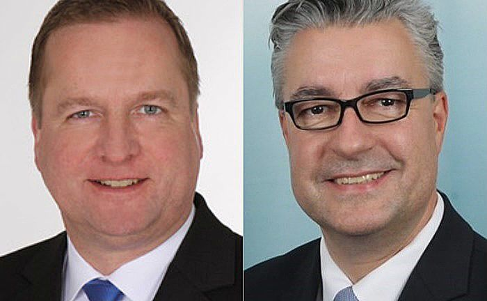 Andreas Schumacher (l.) und Heiko Spitz wechseln kommendes Jahr zu Merck Finck in Köln.|© Merck Finck Privatbankiers