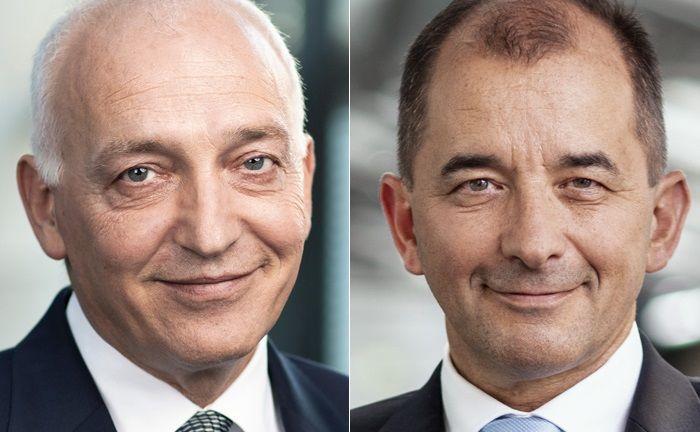 Volker Gerstenmaier (l.) und Harald Brenner bilden den Vorstand der Privatbank Ellwanger & Geiger, ab sofort als Aktiengesellschaft eingetragen.|© Ellwanger & Geiger